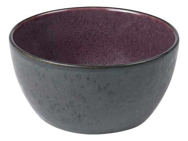 Bowl, Stoneware, Black/Lilac