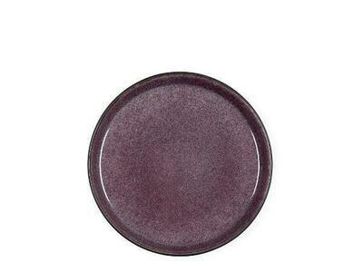 Gastro Plate, Stoneware, Black/Lilac