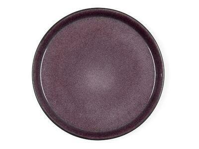 Gastro Plate, Stoneware, Black/Lilac, Ø27