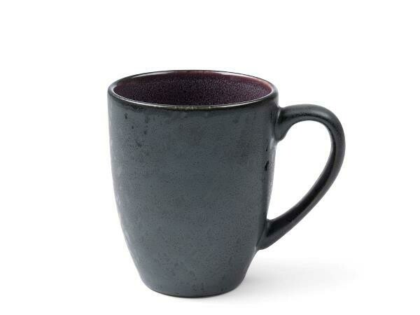 Mug, Stoneware, Black/ Lilac