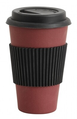 Bamboo Mug To Go, Dark Red