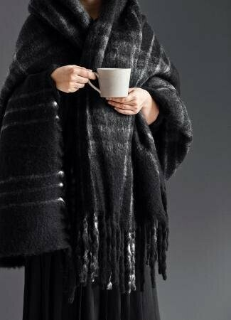 Blanket, Black Checks