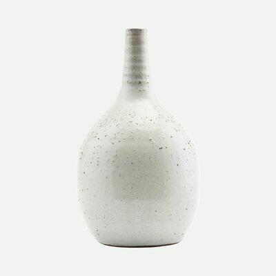 Vase, Turn, White/Grey
