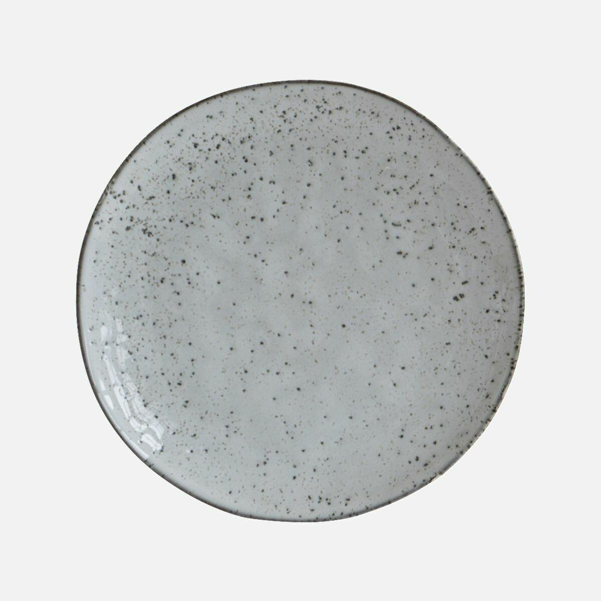 Cake Plate, Rustic, Grey/Blue
