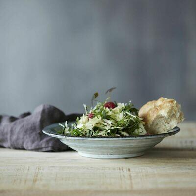 Soup Plate/Bowl, Rustic, Grey/Blue