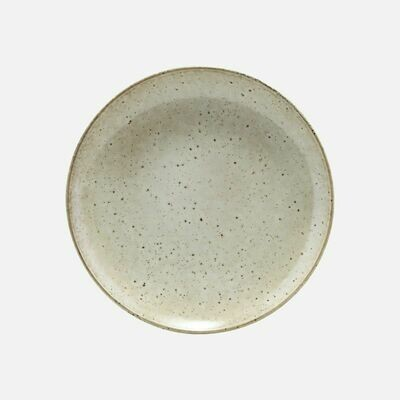 Stoneware Lunch Plate Lake, Light Grey