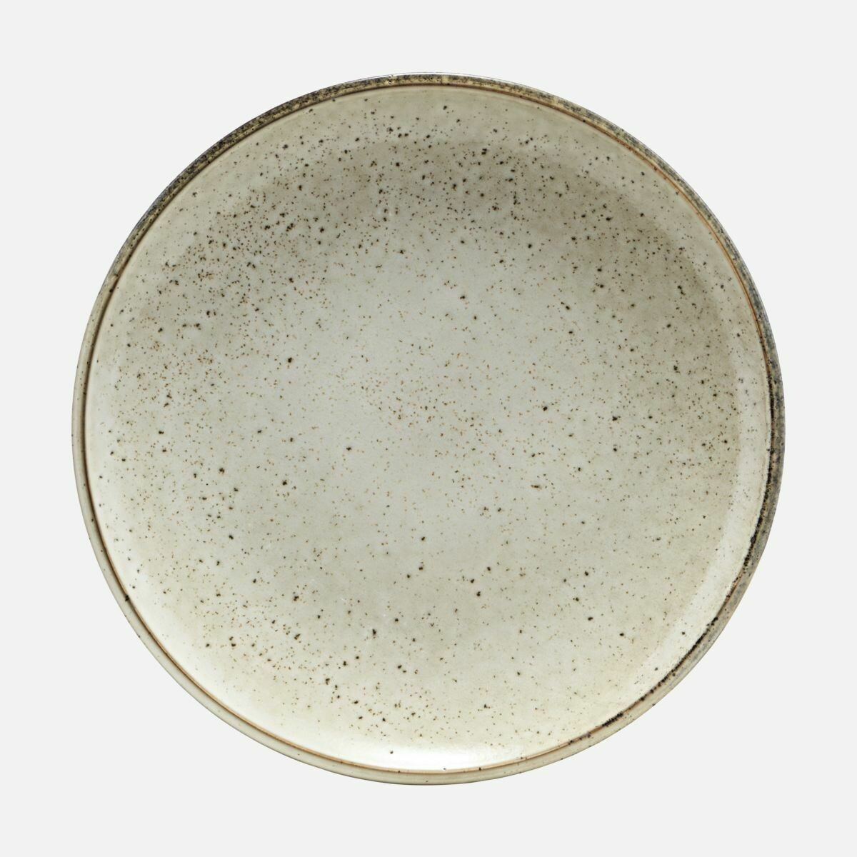 Stoneware Plate Lake, Light Grey