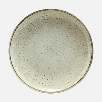 Stoneware Plate Lake, Light Grey