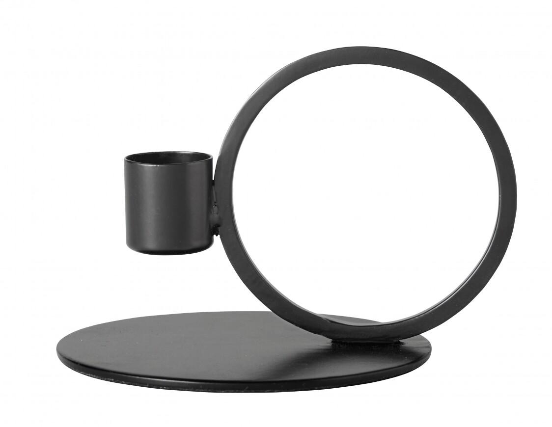 Candle Holder, Circle, Black Finish