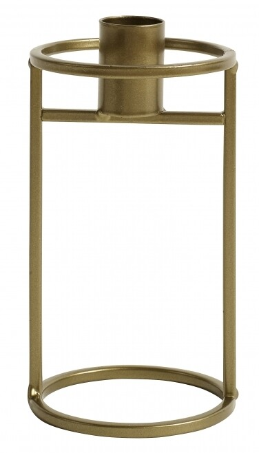 Candleholder, Metal, Gold