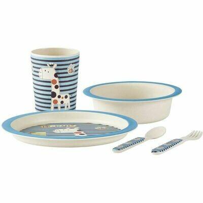 Children's crockery set Bamboo, Blue, 5 pieces