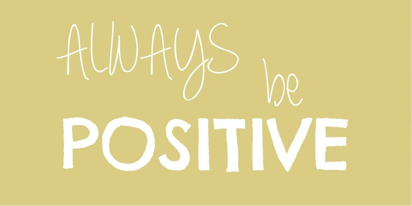 Magnet 'Always be positive'