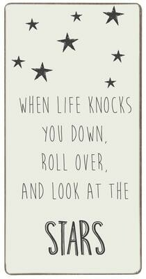 Magnet 'When life knocks you down,roll over...'