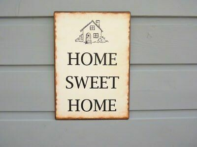 Metal Sign 'Home Sweet Home'