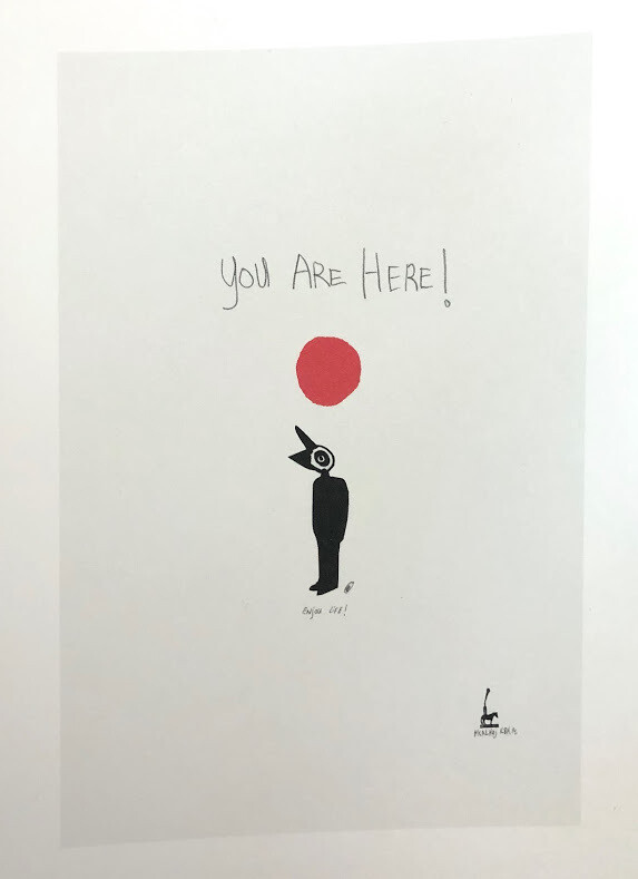 Martin Kalhøj Art Post Card - You are Here!