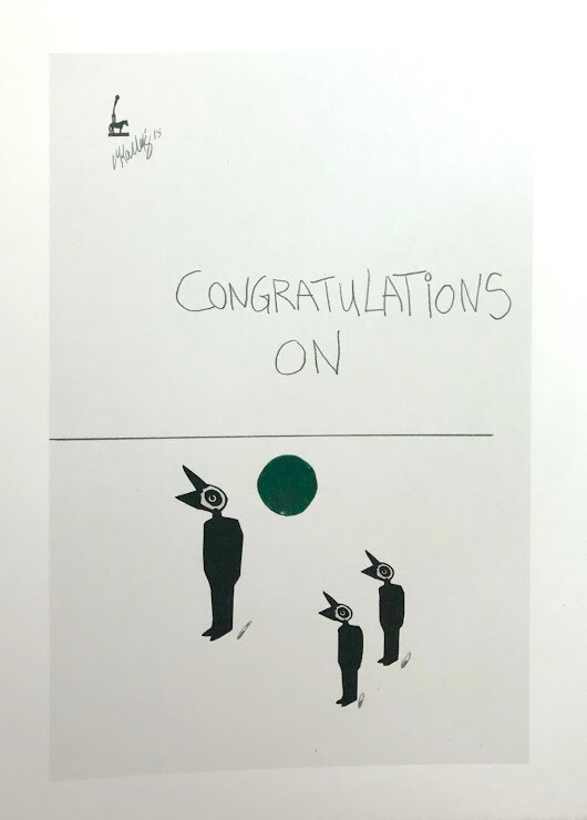 Martin Kalhøj Art Post Card - Congratulations on