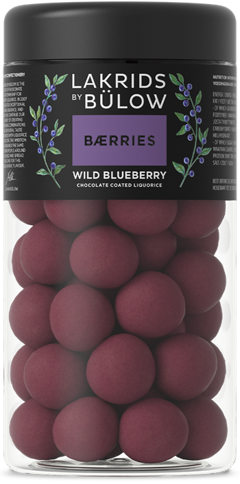WILD BLUEBERRY - CHOCOLATE COATED LIQUORICE, 295gr