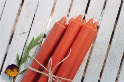 Candles 6pcs. Dark orange