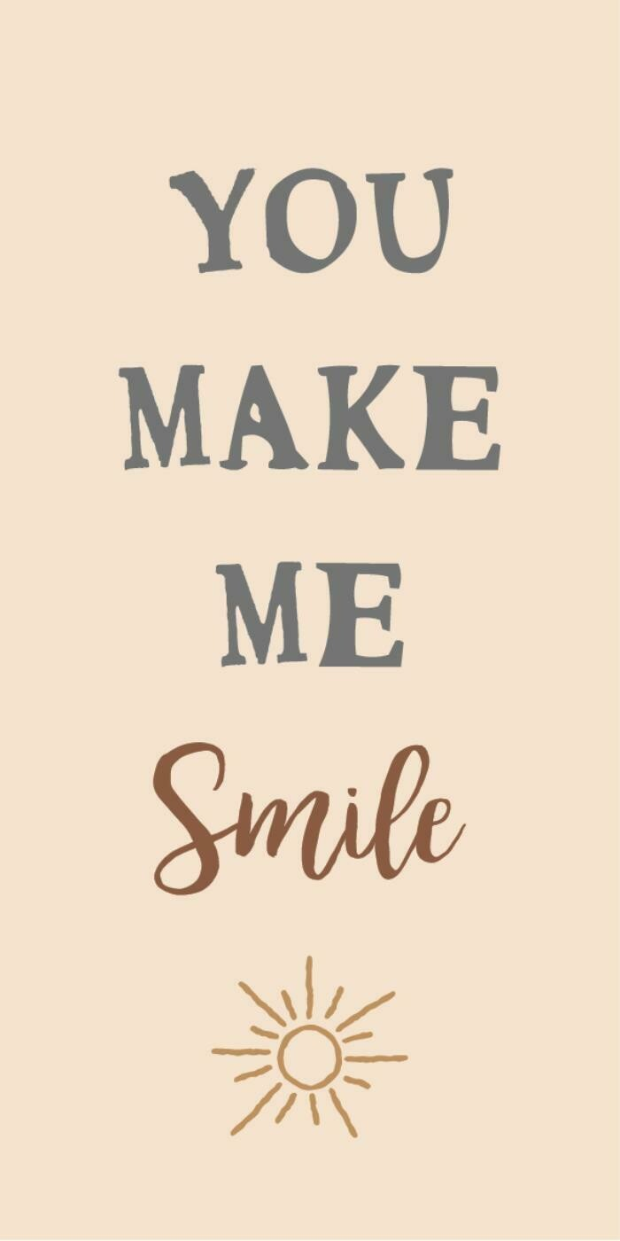 Magnet 'You make me smile'