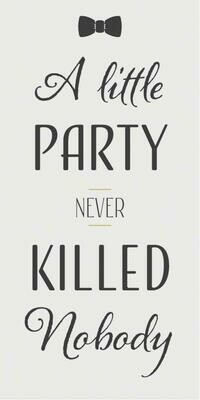 Magnet 'A little party never killed nobody'