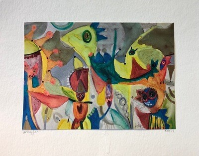 Martin Kalhøj, Handdecorated Print 30*40
