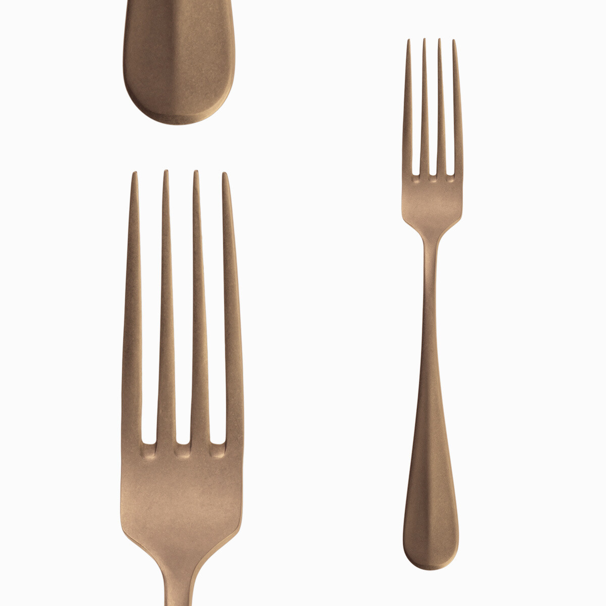 "Table Fork, ""Baguette"" Vintage Gold"