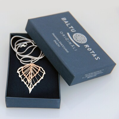 Combined birch pendant with chain