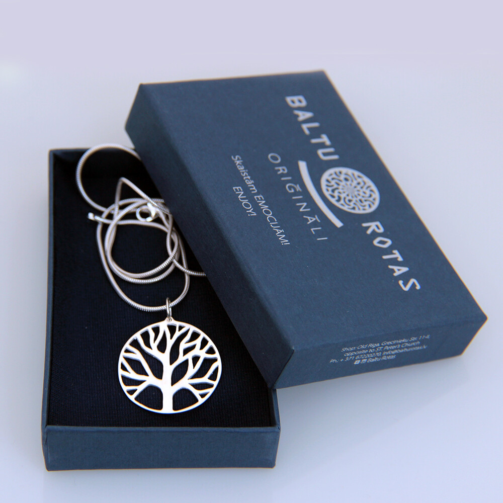 Silver Pendant tree with chain
