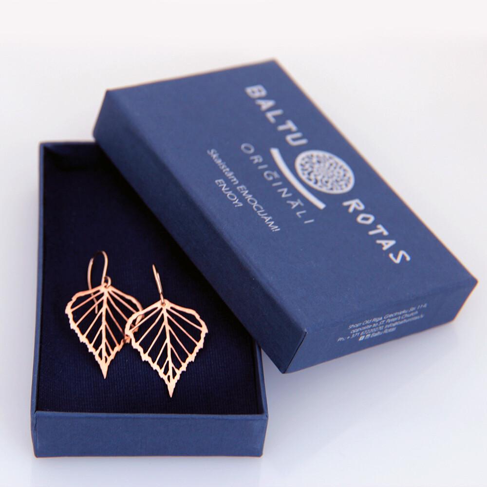 Bronze small birch earrings, gold filled ear hooks