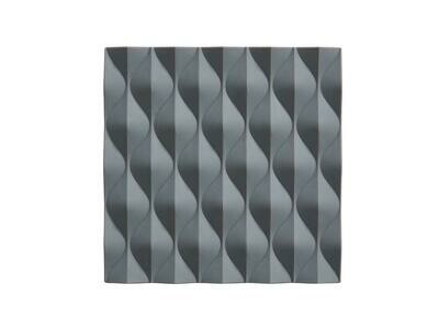 Origami Wave Trivet, Cool Grey
