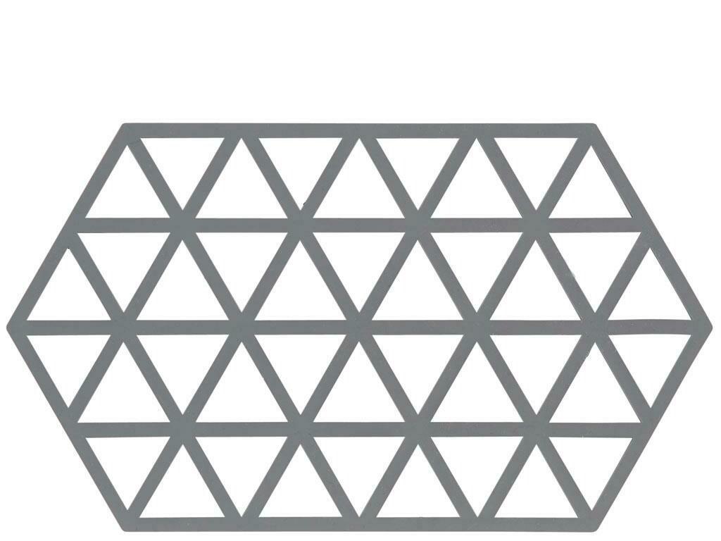 Triangles Trivet, Cool Grey, big
