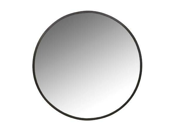 Mirror Dia. 80 cm Black