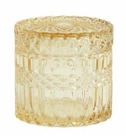 WELLY glass jar w. lid, S, yellow