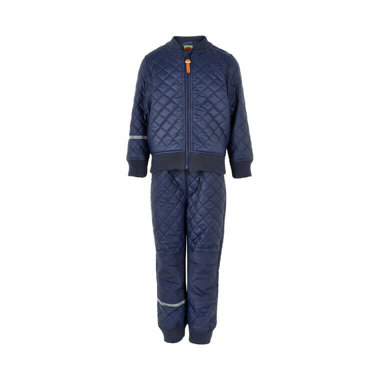 CELAVI THERMO SET W FLEECE, Dark Navy