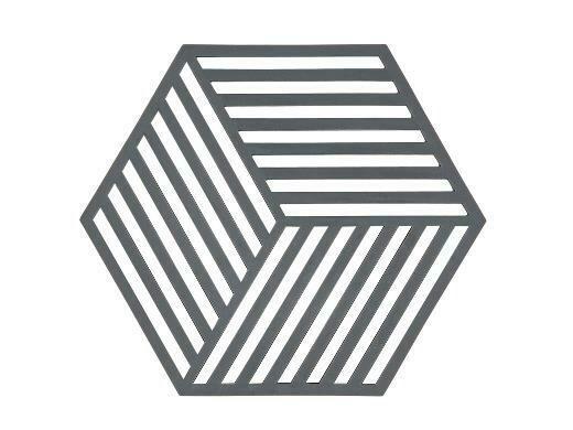 Silicone Hexagon Trivet, Grey