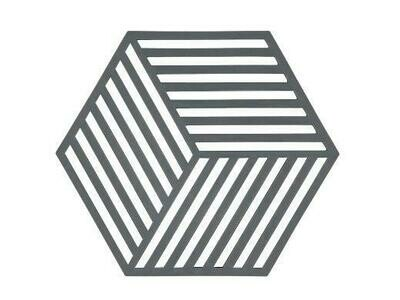 Silicone Hexagon Trivet, Grey