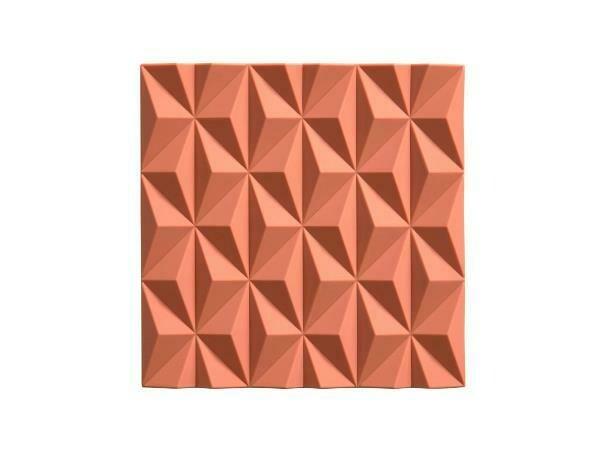 Origami Beak Trivet, Peach