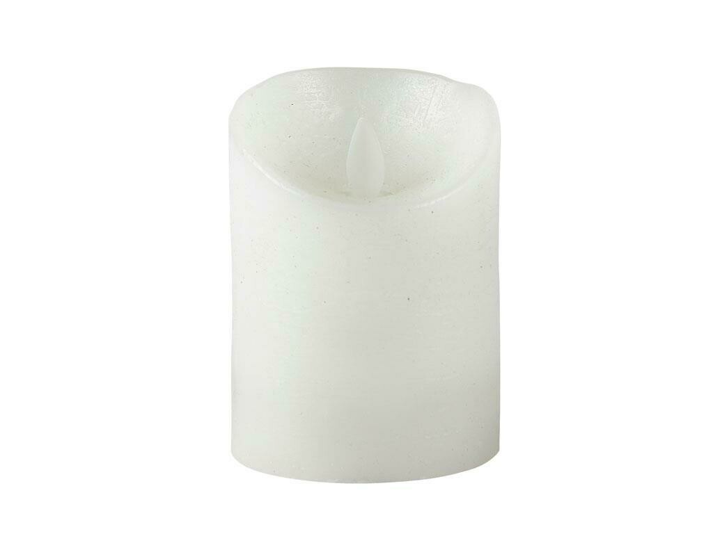 LED candle Dia. 7.5 x 10 cm White