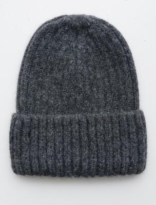 Fisherman Hat, Dark Grey, alpaca wool
