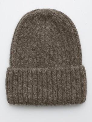 Fisherman Hat, Truffle, alpaca wool