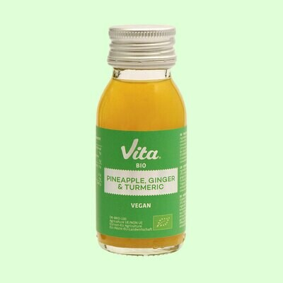 Juiceshot, Pineapple, Ginger & Turmeric, 60ml