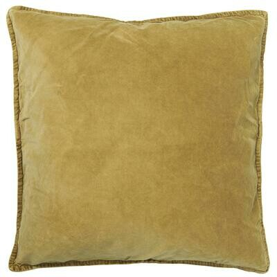 Cushion cover, velvet, mustard