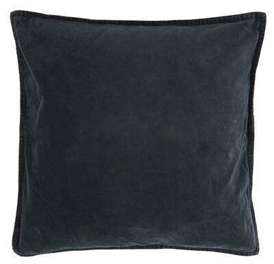 Cushion cover, velvet, midnight blue