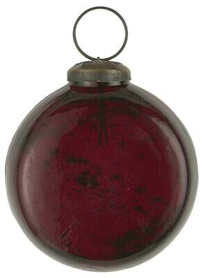 Christmas ornament FLAT pebbled glass rhododendron