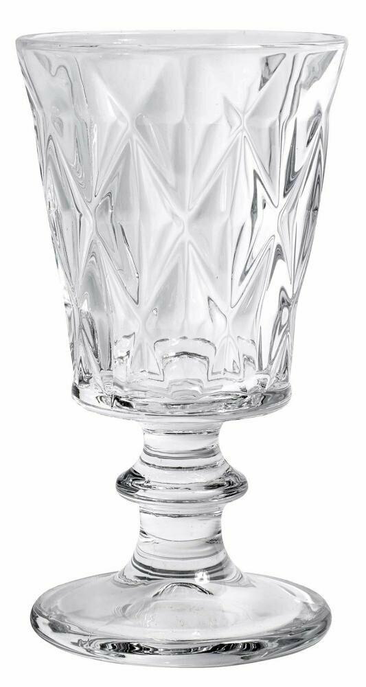 Diamond Redwine Glass, clear