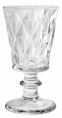 Diamond Redwine Glass, clear