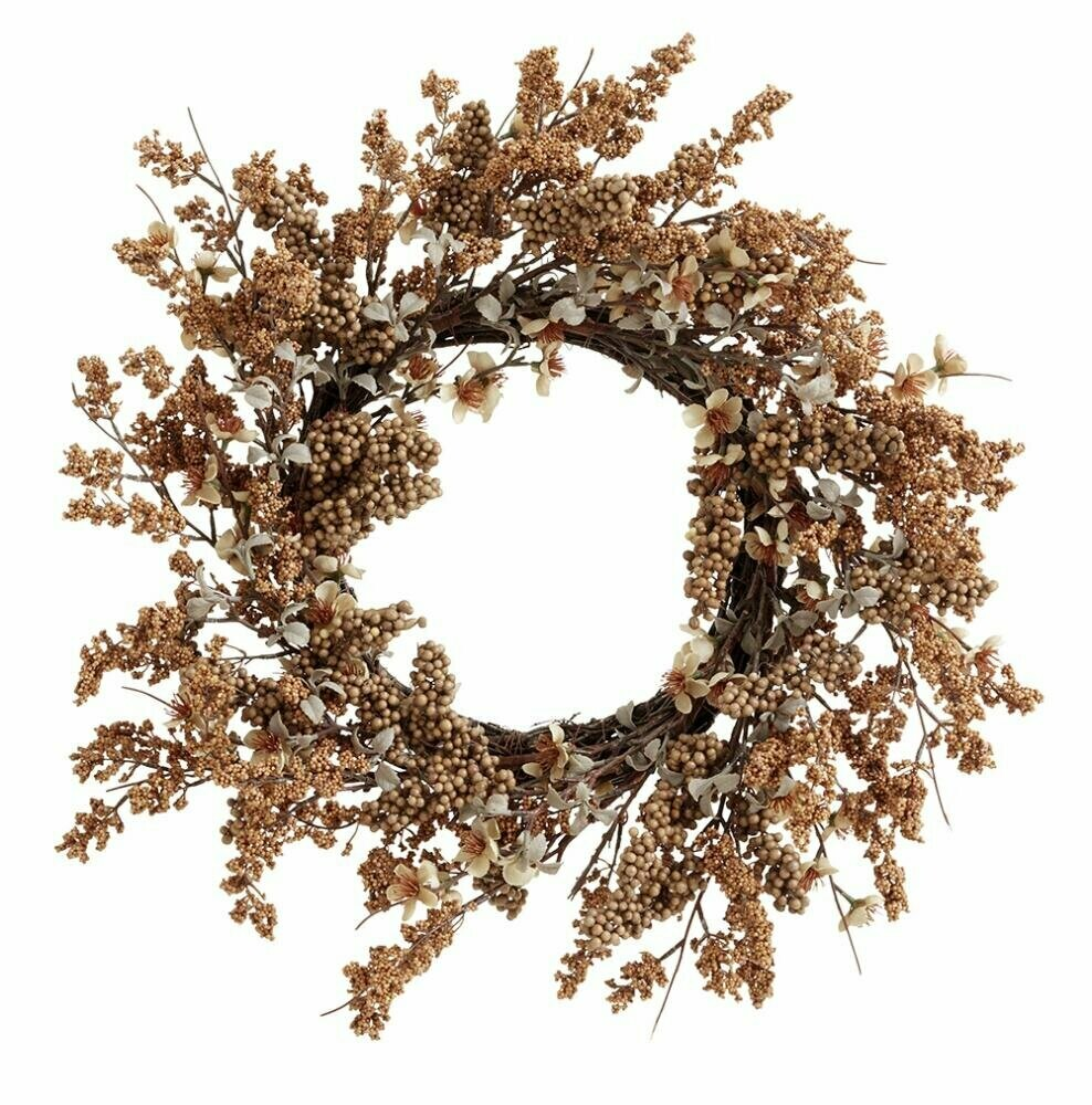 Wreath, brown,  Ø31 CM