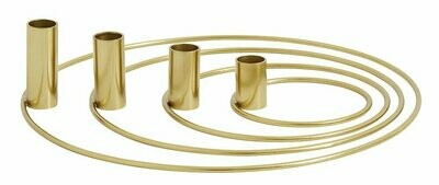 Ring advent candle holders set/4, brass