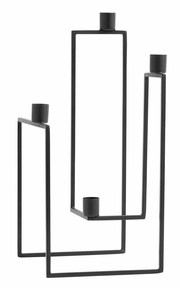 ORA candle holder, black, f/4 candles