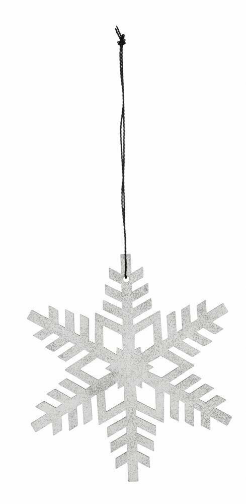 Snowflake, white/silver